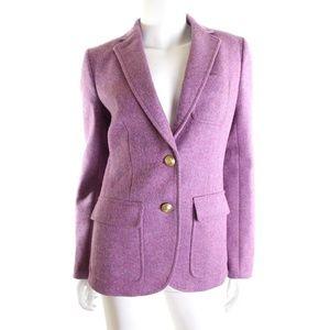 J.Crew Collection Purple Rhodes Wool Blazer